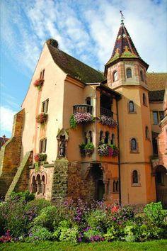 Garden House, Eguisheim, Alsace, France  photo via besttravelphotos
