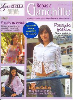 Patrones Crochet: Revista Jerseys y Tops, mirar pág 25 y 26