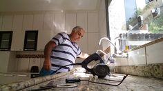 Cortar vidros com serra mármore  ...