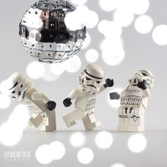 Disco Trooper by claylo | LEGO Star Wars Stormtrooper Minifigs and Disco Ball