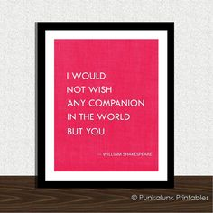 Shakespeare love quote typography art print - romantic gift - 8x10 poster - anniversary present