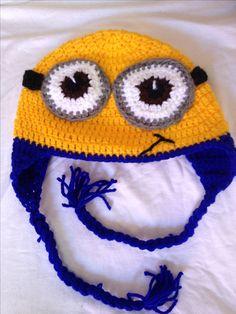 Gorro tejido minion by Sahily Crochet $250