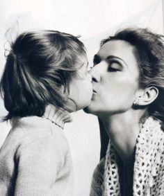 Celine Dion with her baby