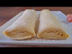 Bugün öyle bir börek yapıyoruz ki, emin olun ikram ettiğiniz herkes sizden böreğin tarifini isteyecek. Yapım aşamalarının pratik olması ve çıtır çıtır lezzetiyle de sizin çok hoşunuza gidecek. Breakfast Bake, Arabic Food, Peanut Butter, Food And Drink, Pasta, Cooking, Desserts, Youtube, Bakken
