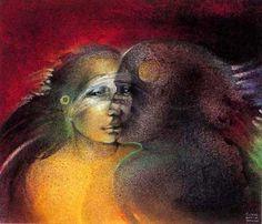 Susan Seddon-Boulet (1941-1997) - « Kiss of the Black God » alias Psyche and Eros - 1994