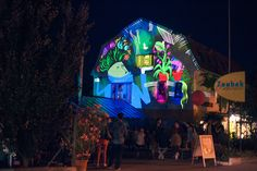 Co-founders of OMAi and creators of Tagtool for iPad, Markus Dorninger and Matthias Fritz go finger painting with light this past weekend on the Zoubek flower shop in Tulln, Austria. Finger Painting, Austria, Past, The Creator, Graffiti, Around The Worlds, Animation, Events, Live