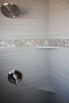 Tile design in master bathroom shower Tile design in master bathroom shower House Bathroom, Bathroom Makeover, Small Bathroom, Bathroom Decor, Bathroom Design, Master Bathroom Shower, Bathroom Flooring, Tile Bathroom, Tiny House Bathroom