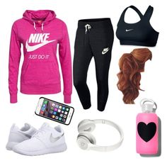 """""""Nike"""" by missprettygirl561 ❤ liked on Polyvore featuring NIKE and bkr"""