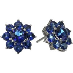 Nina Teela (True Saphirre) Earring (80 BRL) ❤ liked on Polyvore featuring jewelry, earrings, blue, stud earrings, blue stud earrings, sparkle jewelry, earring jewelry and post back earring
