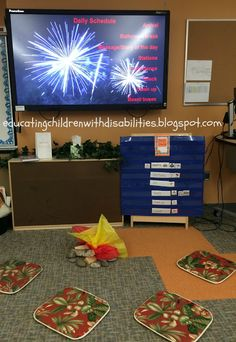 Camping theme classroom: reading around the campfire