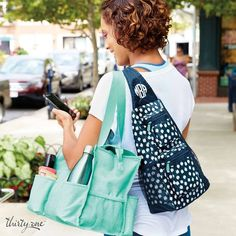 Thirty-One Gifts – Sling Back Tote! #ThirtyOneGifts #ThirtyOne #Monogramming #Organization #August2017Special #SaveBig #CinchSac #EssentialStorageTote #SlingBackTote