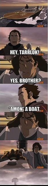 Avatar Legend of Korra / Tarrlock would rather die than listen to anymore of Amon's corny jokes