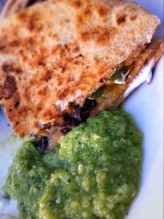 Fresh, easy zucchini salsa! The new salsa verde.