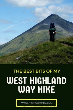 5 years ago I walked my first long distance trail: the West Highland Way. On my blog, I wrote about the best bits of th WHW: https://hikingwithliz.com/2016/07/19/best-bits-of-my-west-highland-way-hike/