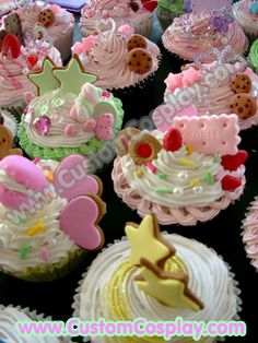Faux cupcakes by =The-Cute-Storm on deviantART Fake Cupcakes, Fake Cake, Candy Christmas Decorations, Christmas Candy, Merry Christmas, Felt Play Food, Homemade Ornaments, Fake Food, Mini Foods
