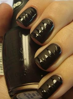 matte #nail_polish is taped and the shiny part is topcoat #shredded_mani #nails