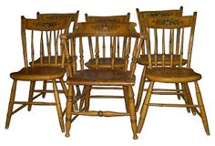 Hitchcock-Style Chairs, S/6 on OneKingsLane.com they remind me of my Grandma Minna And Grandpa Milts!