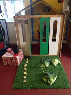Potting shed role play for the topic Growing. Spring Cycle, Role Play Areas, Mini Beasts, My Themes, Eyfs, Small World, School, Ideas, Thoughts