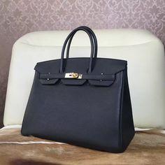 H brand Birkin leather handbag ~ we can custom made for you.