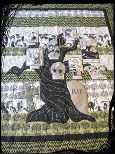 Ghastlie Family Tree Quilt.  Fun for Halloween