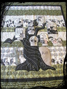 Ghastlie Family Tree Quilt. Fun for Halloween