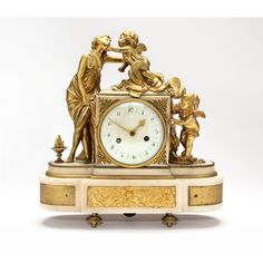 French Marble Mantle Clock Sold $1,000.