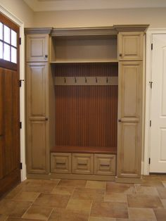love the color--wish the whole thing was the same color though--don't like the wood tone accents. Wood Lockers, Evolution, Tall Cabinet Storage, Decoration, Projects, House, Furniture, Color, Home Decor