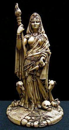 Goddess Hecate / Hekate Statue (Bone Finish)