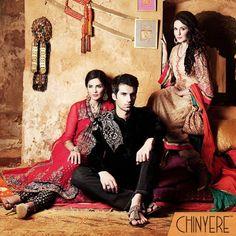 Chinyere Winter Raj-e-Tarangini Collection 2013 For Men & Women   Latest Fashion Trends
