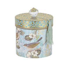 Bring beauty into your bathroom with this Printed Blue Beauty Toilet Paper Holder. Decoupage Tins, Decoupage Vintage, Decorative Items, Decorative Pillows, Henna Drawings, Diy And Crafts, Paper Crafts, Blue Home Decor, Hat Boxes