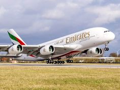 Emirates welcomes its Airbus Emirates Airbus, Emirates Airline, Airbus A380, Boeing 747, Airplane Photography, Commercial Aircraft, Dubai, Airports, Planes
