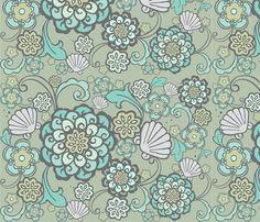 rococoSeaflower-ch-ch fabric by flock on Spoonflower - custom fabric