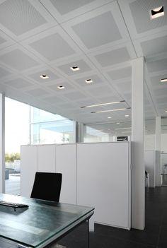 KREON l Luc Spits Bureau d'Architectes, Belgium   #Kreon #lighting #office #interiordesign #DSALighting House Design Drawing, Dental Office Design, Office Lighting, Downlights, Office Interiors, Cabinet, Flooring, Office Spaces, Ceilings
