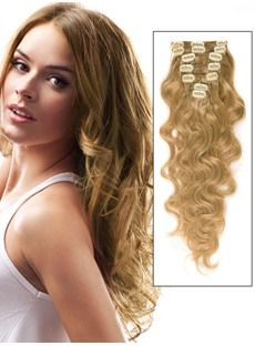 Remy Human Hair Wavy 7PCS Clip in Hair Extensions