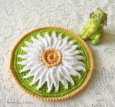 Crochet Potholder - Daisy Hot Pad in Lime Green - Crochet Flower  Retro Pot Holder on Etsy, $10.00
