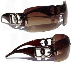 DG Womens Ladies Girls Designer Celebrity Oversize Wrap Style Sunglasses