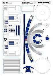 Бумажный робот R2-D2 (Robot R2D2 from paper) » Роботы своими руками