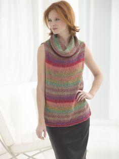 Ravelry: Flattering Shaded Tunic pattern by Lion Brand Yarn Sweater Knitting Patterns, Knitting Designs, Knit Patterns, Knitting Projects, Free Knitting, Knitting Ideas, Tunisian Crochet, Knit Crochet, Crochet Cardigan