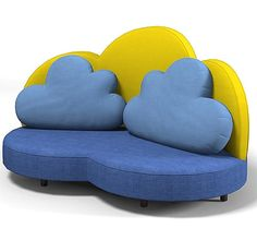 Cloud Sofa with a fun bright colors
