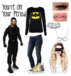 """""""Seth Rollins~You're On Your Period"""" by queenreigns-916 ❤ liked on Polyvore featuring WeSC, Converse, Reeds Jewelers and Sephora Collection"""