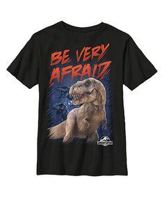 Look at this #zulilyfind! 'Jurassic World Be Very Afraid' Tee - Boys by Jurassic Park #zulilyfinds