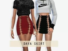 Daya Skirt - The Sims 4 Download - SimsDom