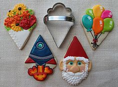 Ice cream cone shaped cookie cutter ideas - Cookie Artisan -