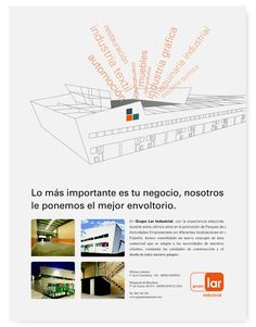 Página publicidad Lar Industrial. 2007. Grupo Lar - Diseño de Artimaña - www.artinet.net