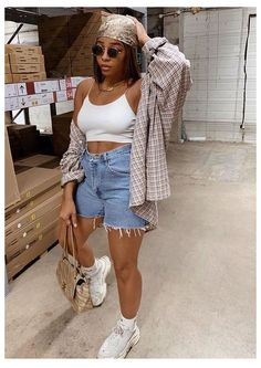 Baddie Outfits Casual, Chill Outfits, Mode Outfits, Cute Casual Outfits, Funky Outfits, Streetwear Mode, Streetwear Summer, Streetwear Fashion, Tomboy Fashion
