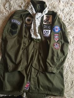 Some more patches added, Pretty Green Parka Mod Fashion, Fashion Wear, Vespa, Fred Perry Polo, Mod Look, Green Parka, Fishtail Parka, Mod Scooter, Parka Style