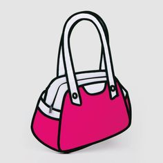 It looks like a cartoon drawing of a handbag. But it's an ACTUAL hand bag!!! May I just say... WANT!!!!!!