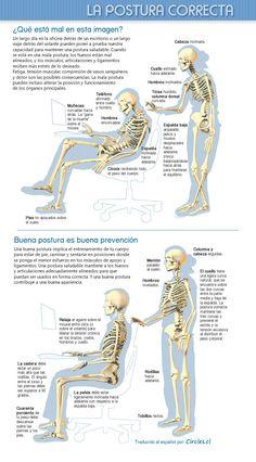 Previene dolores musculares con una buena postura