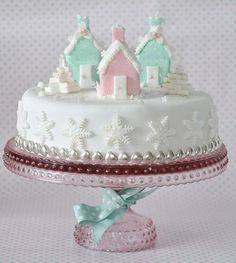 (Via meu gelado casas bolo de Natal por toriejayne | ❅ Natal em Pastels ❅)