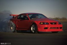 Ford Mustang Cobra-R. That's one mean machine! Mustang Cobra, 2000 Ford Mustang, Ford Mustangs, Modern Muscle Cars, American Muscle Cars, American Auto, Ford 2000, Neuer Ford Mustang, New Edge Mustang